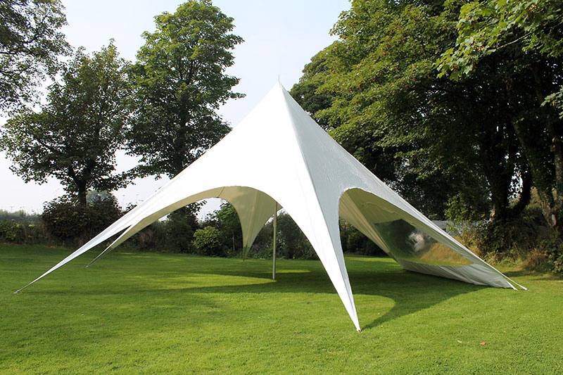 12m star providing shade for garden parties and festivals. Black Bedroom Furniture Sets. Home Design Ideas