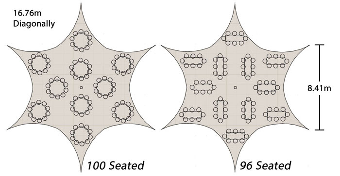16m Star seating